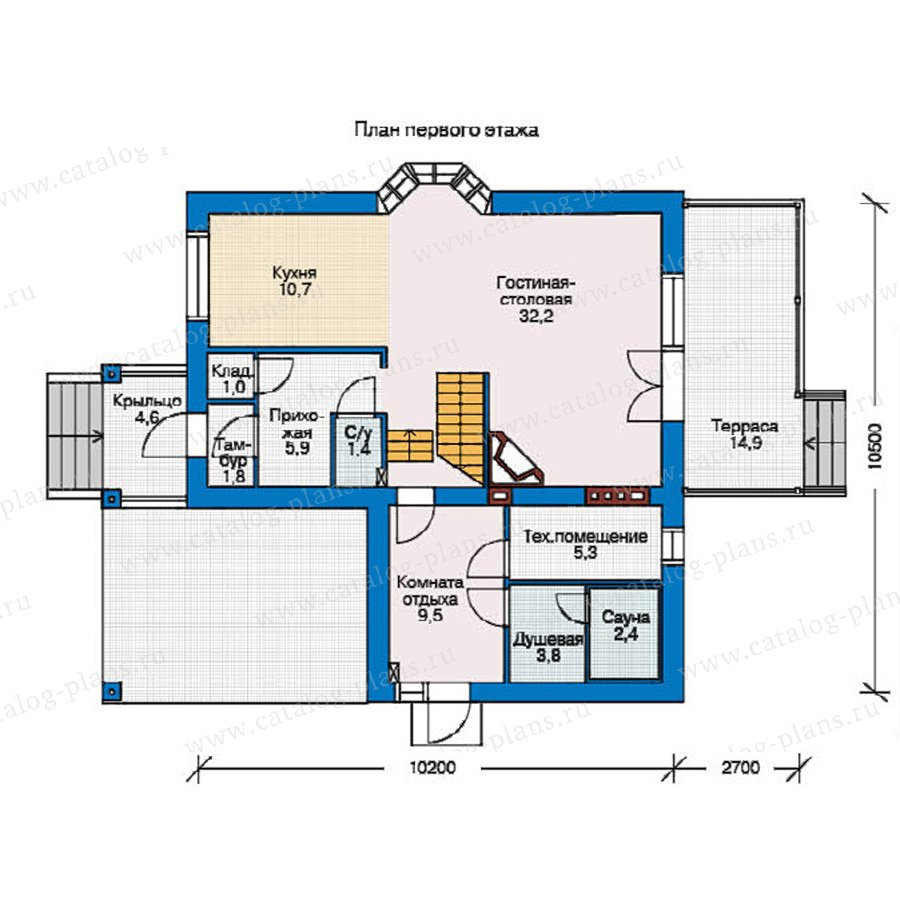 План 1-этажа проекта 37-69