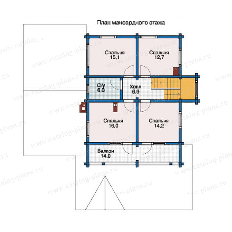 План 2-этажа проекта 38-74