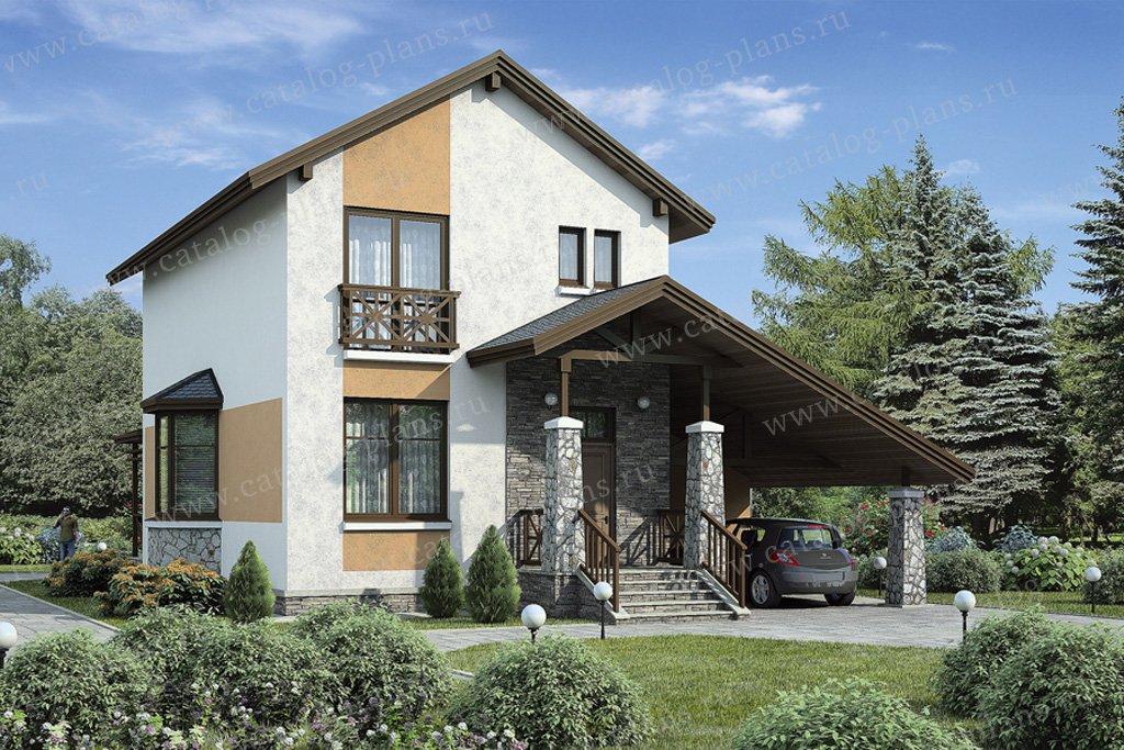 Проект жилой дом #37-32 материал - кирпич, стиль современный