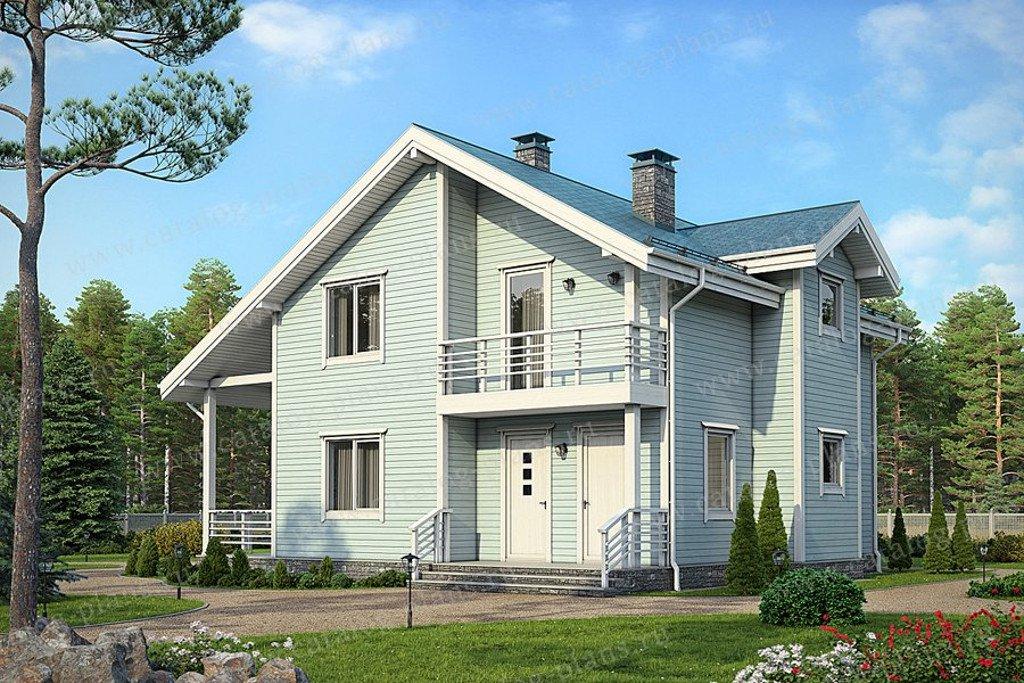 Проект жилой дом #70-71 материал - каркас, стиль скандинавский
