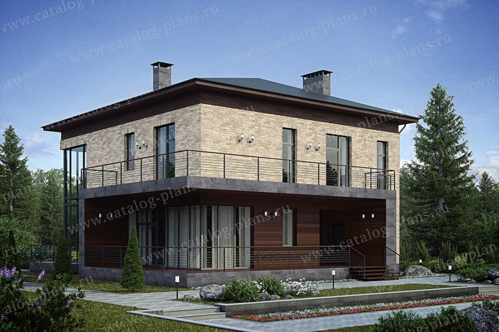 Проект жилой дом #39-24 материал - кирпич, стиль современный