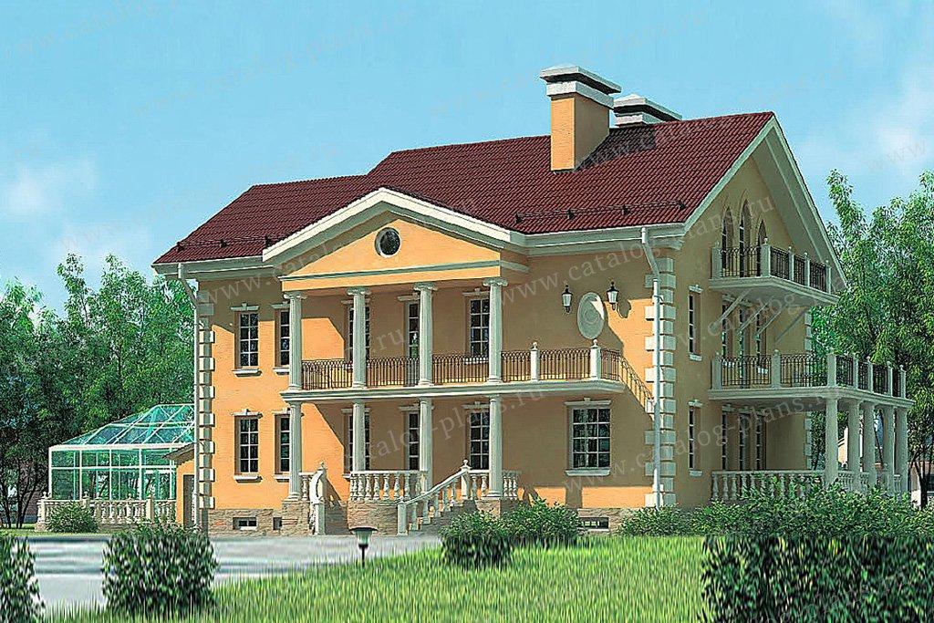 Проект жилой дом #37-62 материал - кирпич, стиль классический