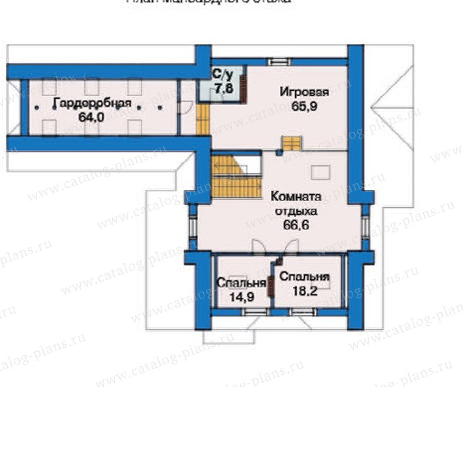 План 3-этажа проекта 38-23