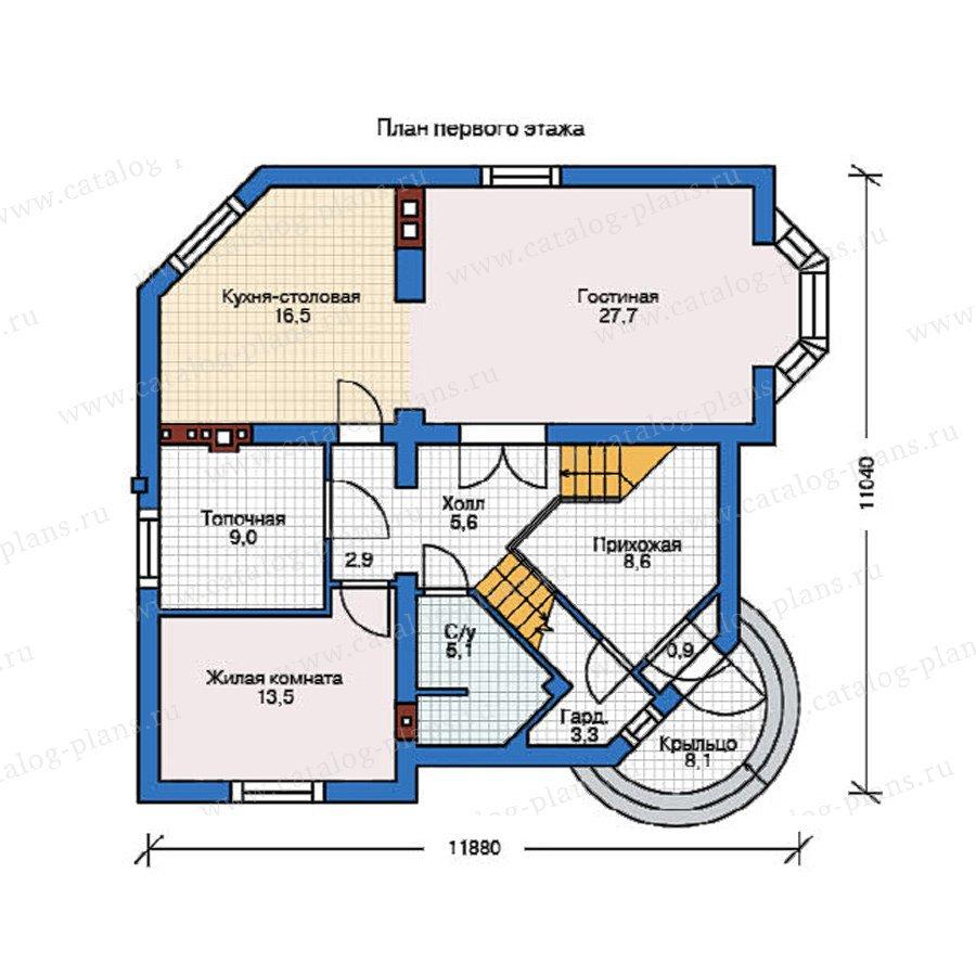 План 1-этажа проекта 37-59