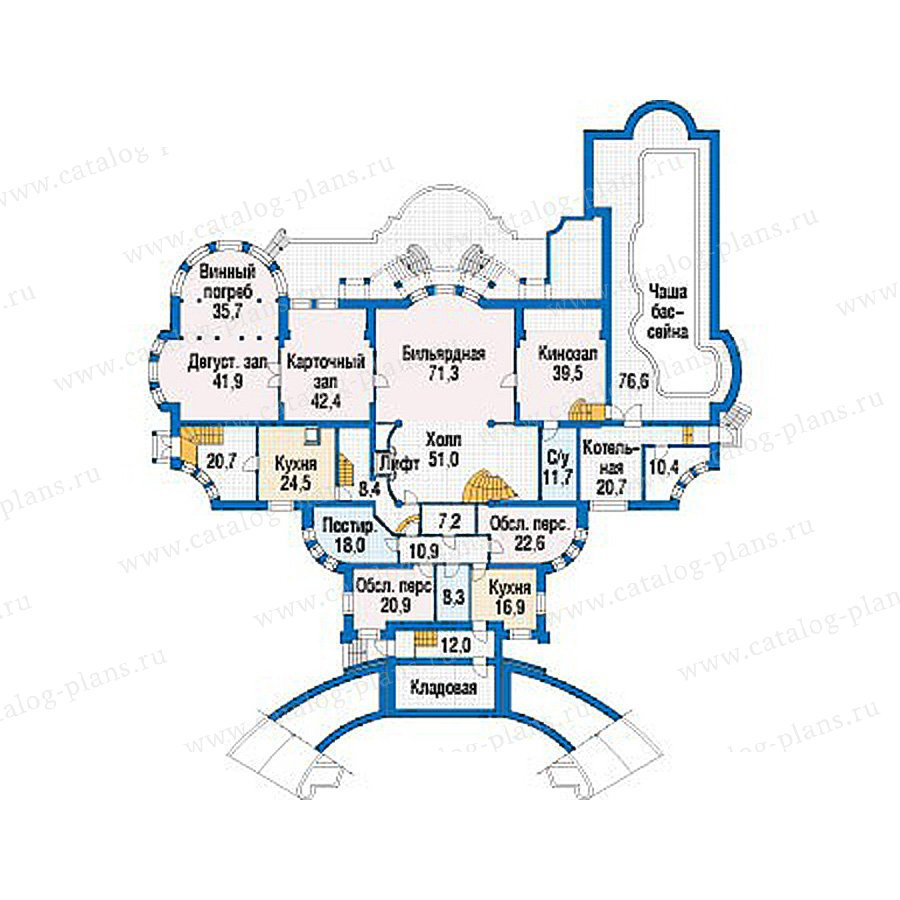 План 1-этажа проекта 39-23