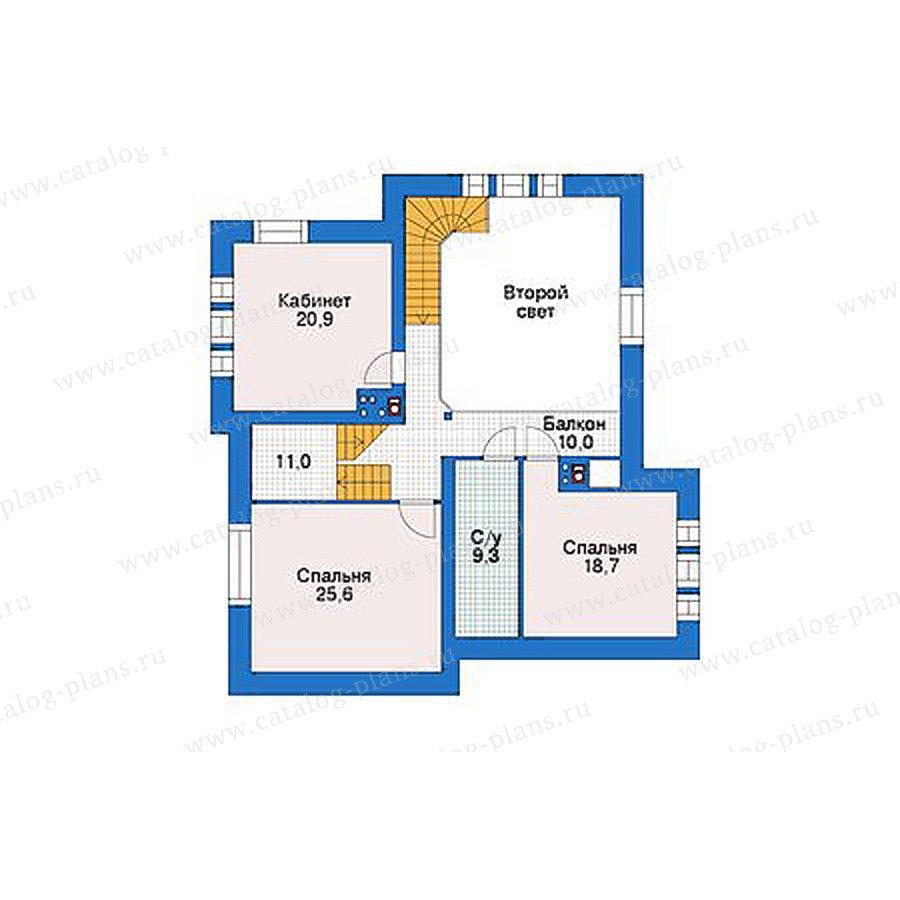План 2-этажа проекта 39-08