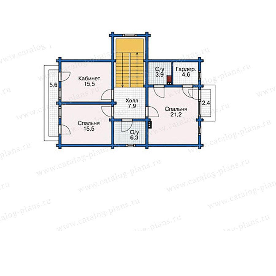 План 2-этажа проекта 38-77