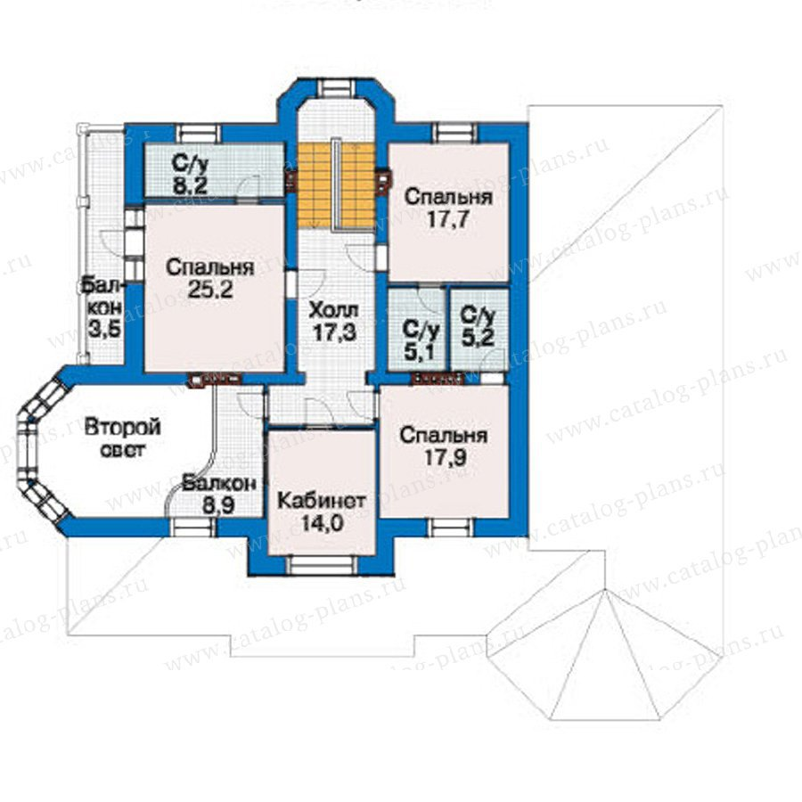План 3-этажа проекта 38-17