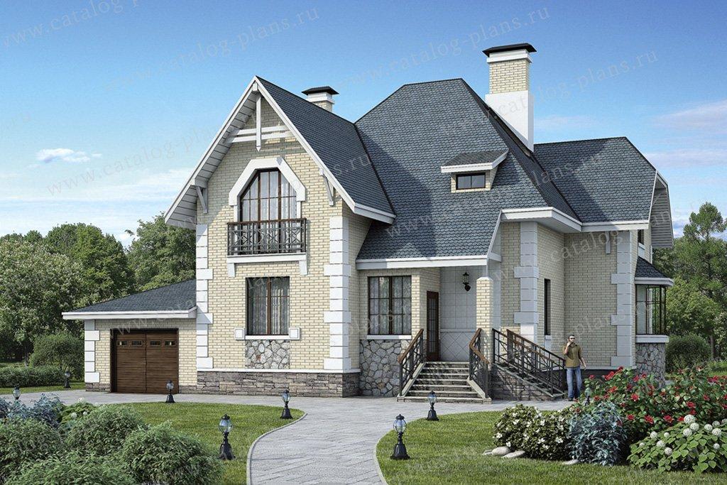 Проект жилой дом #37-33 материал - кирпич, стиль европейский