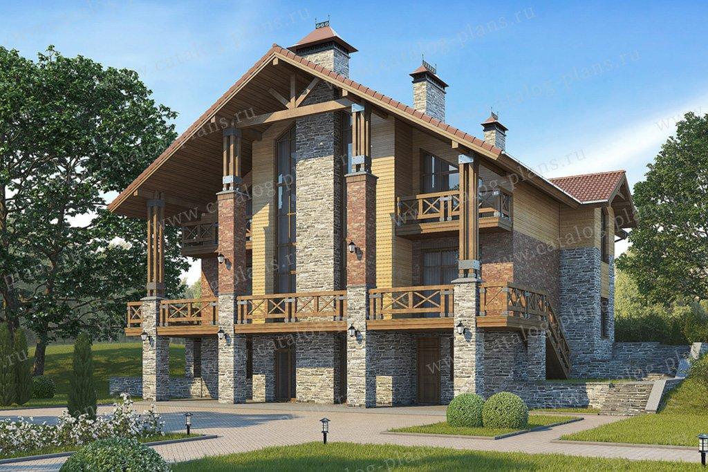 Проект жилой дом #38-28 материал - кирпич, стиль современный