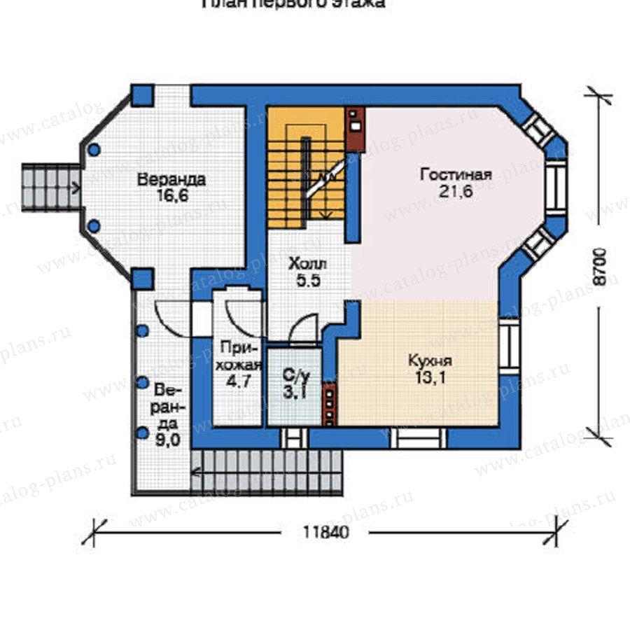 План 2-этажа проекта 37-58