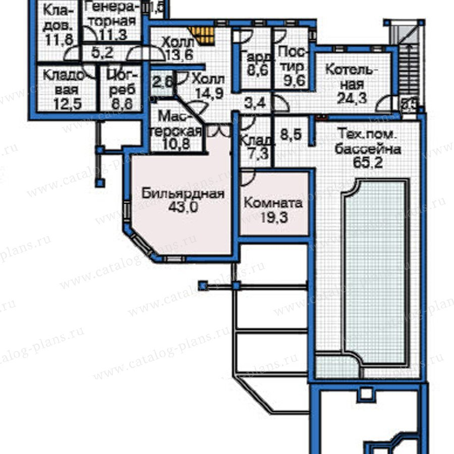 План 1-этажа проекта 37-63