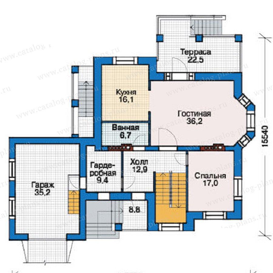 План 2-этажа проекта 37-99