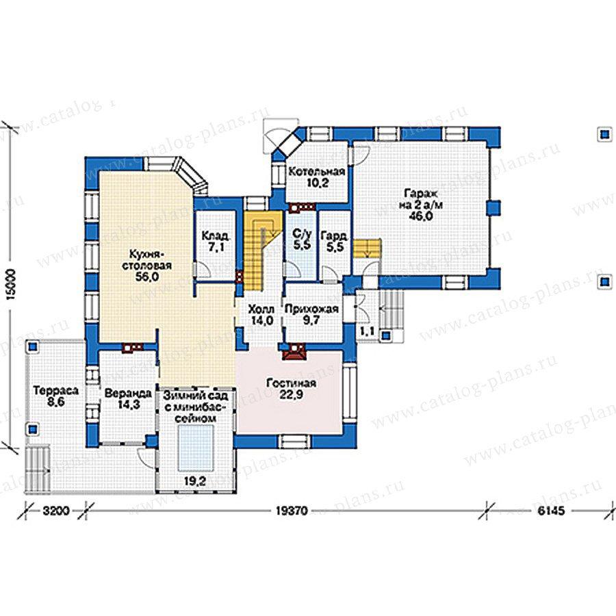 План 1-этажа проекта 39-63
