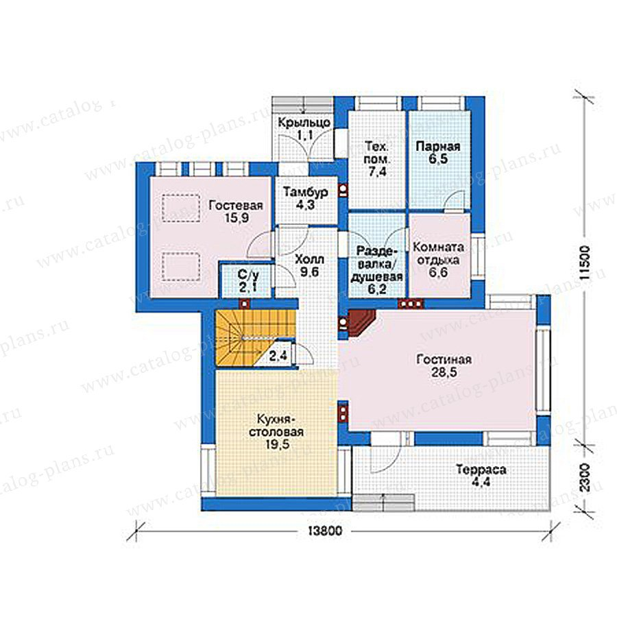 План 1-этажа проекта 39-12