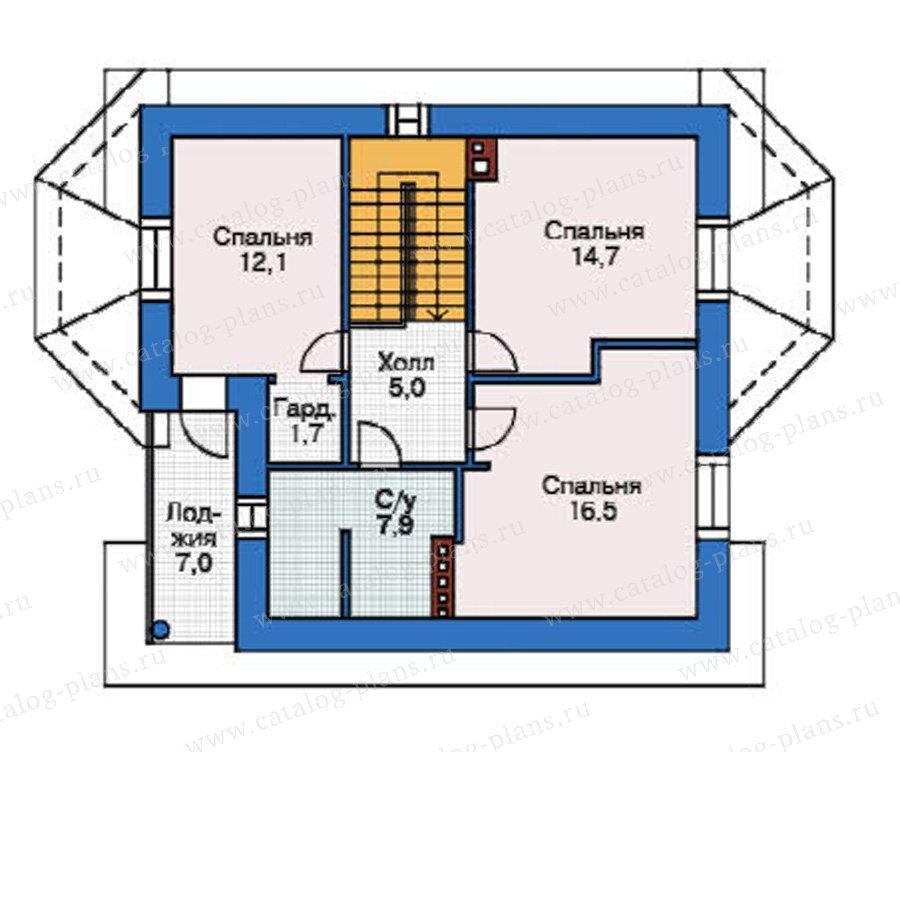 План 3-этажа проекта 37-58