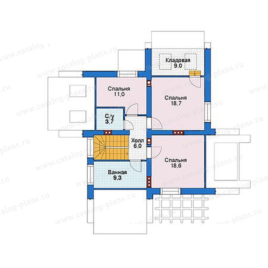 План 2-этажа проекта 39-12