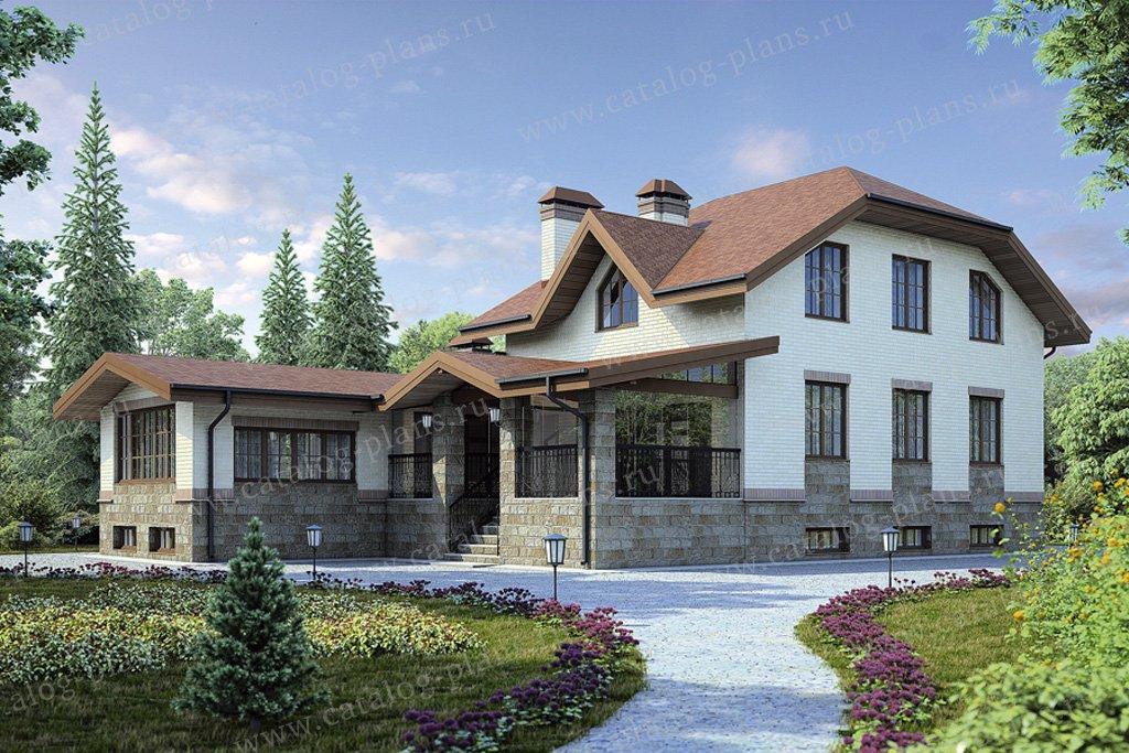 Проект жилой дом #38-56 материал - кирпич, стиль немецкий