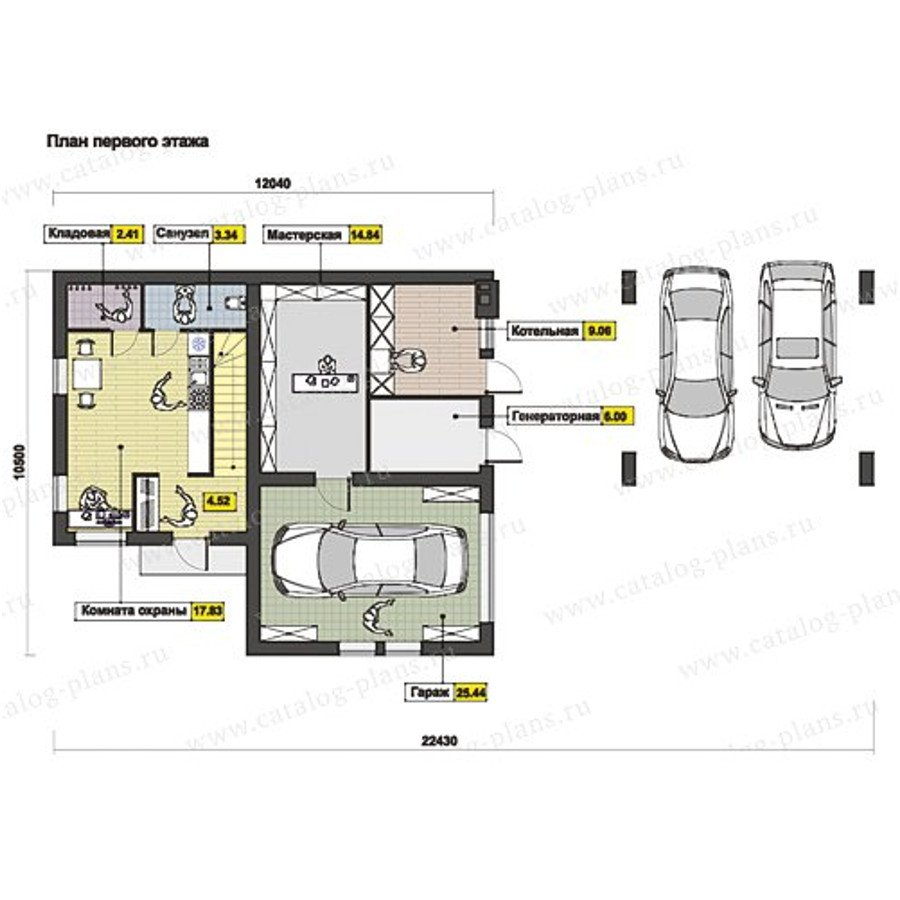 План 1-этажа проекта 60-70