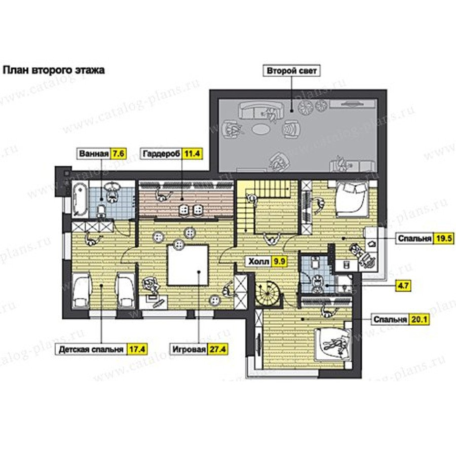 План 2-этажа проекта 60-66