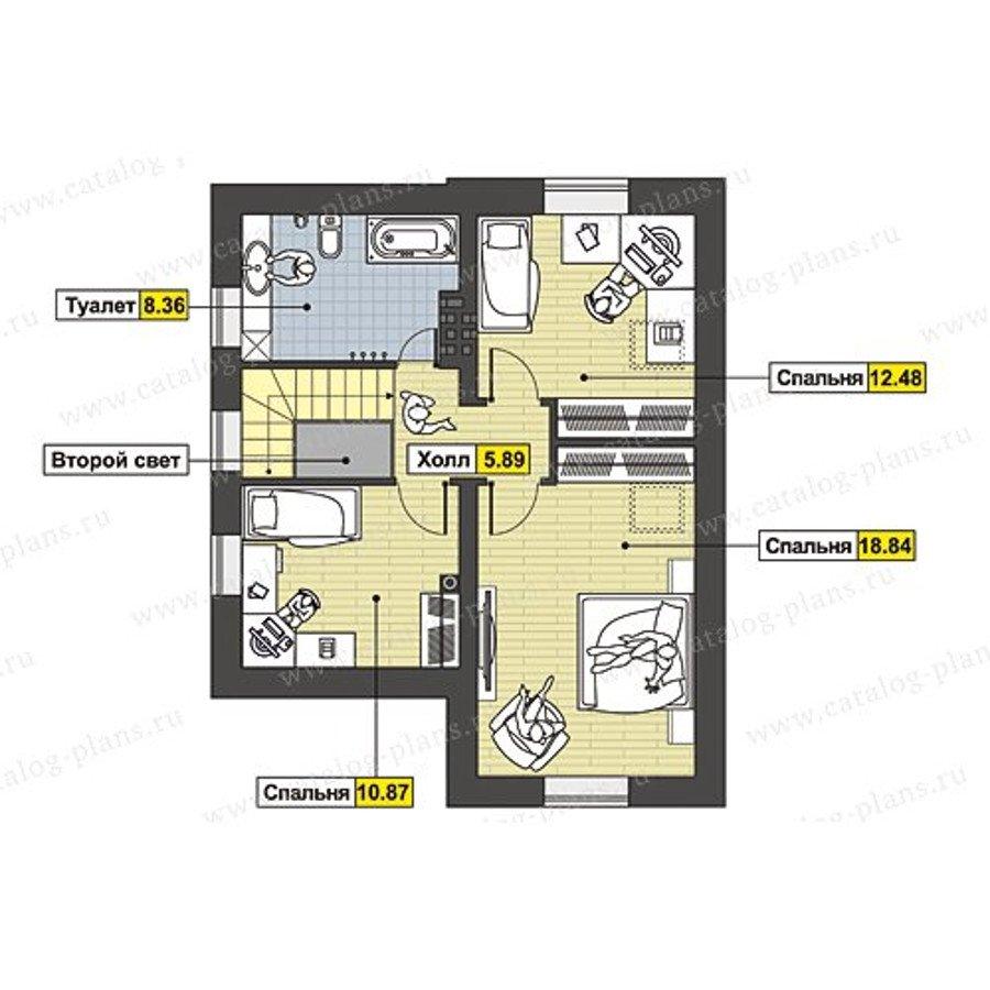 План 2-этажа проекта 60-71