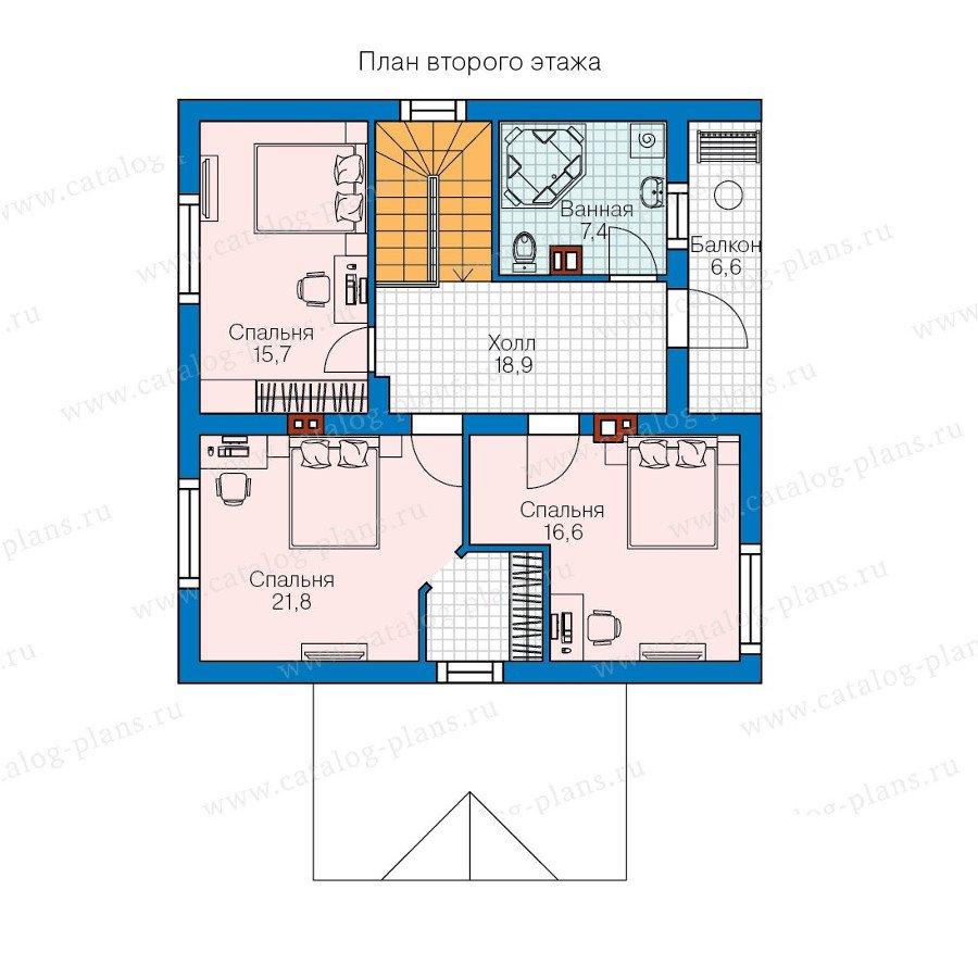 План 2-этажа проекта 60-74
