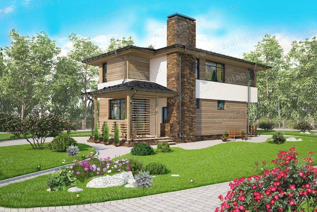 Проект жилой дом #60-67 материал - газобетон, стиль хай-тей