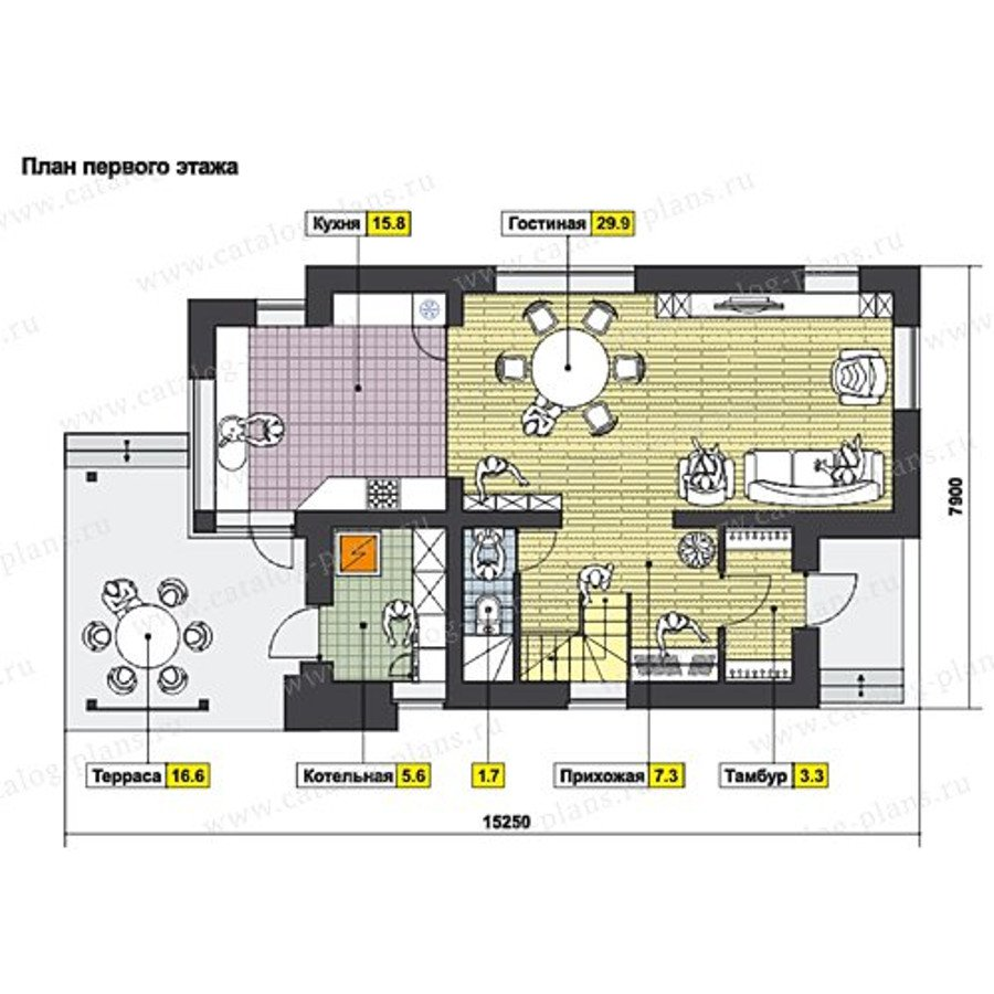 План 1-этажа проекта 60-67