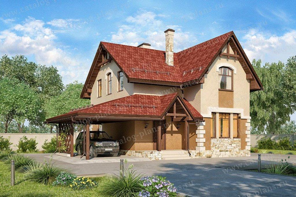 Проект жилой дом #60-71 материал - газобетон, стиль европейский