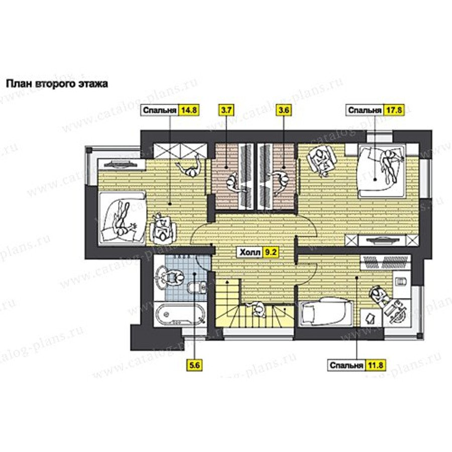 План 2-этажа проекта 60-67