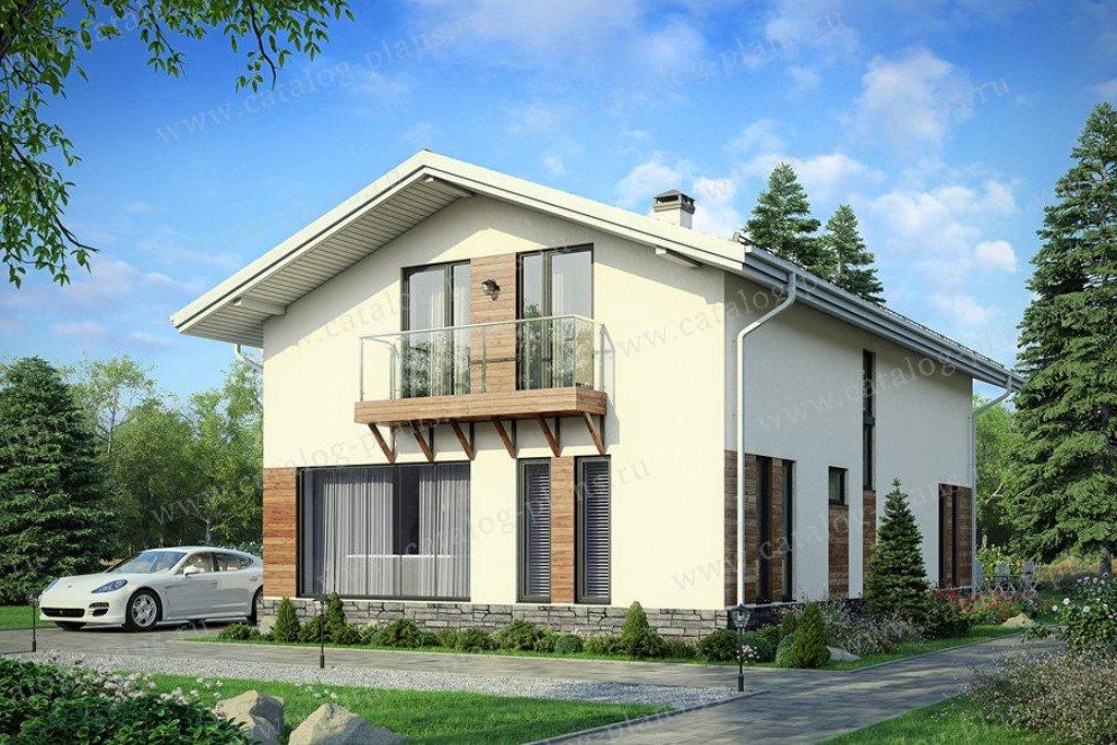 Проект жилой дом #60-69 материал - газобетон, стиль минимализм