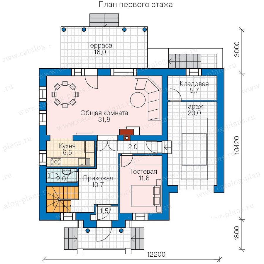 План 2-этажа проекта 60-72