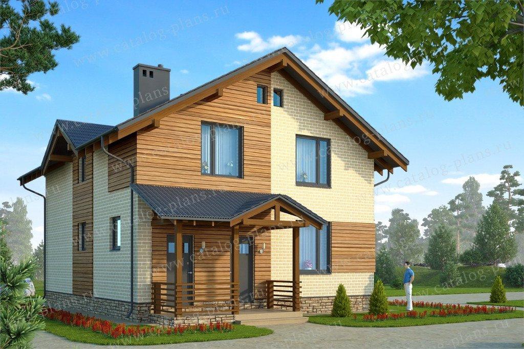 Проект жилой дом #60-75A материал - газобетон, стиль современный
