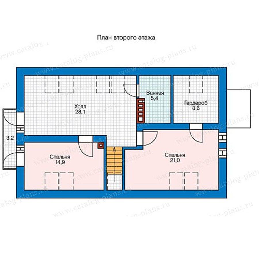 План 2-этажа проекта 60-69