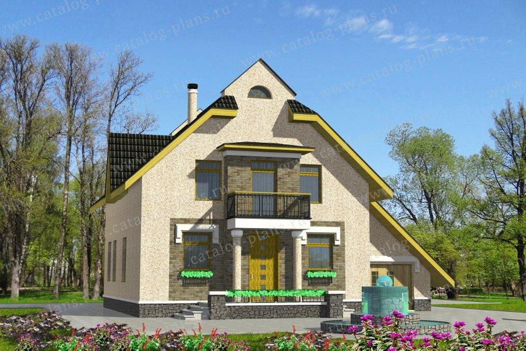Проект жилой дом #60-72 материал - газобетон, стиль модерн