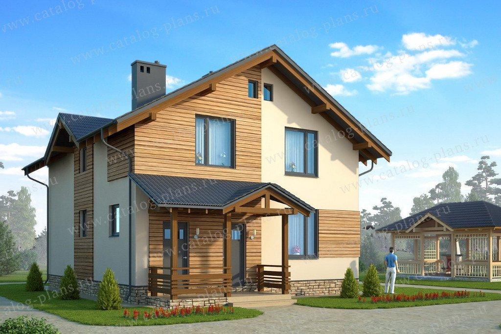 Проект жилой дом #60-75 материал - газобетон, стиль современный