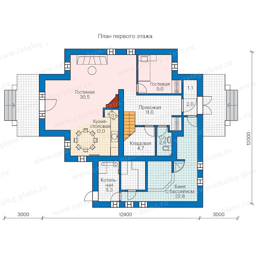 План 1-этажа проекта 60-73