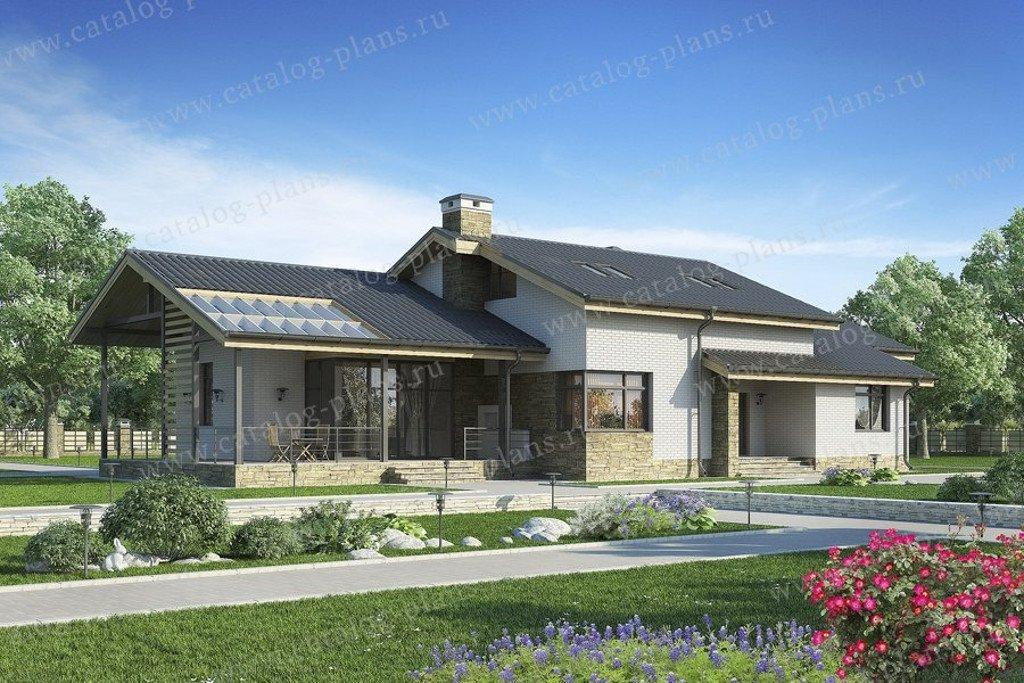 Проект жилой дом #60-65 материал - газобетон, стиль современный