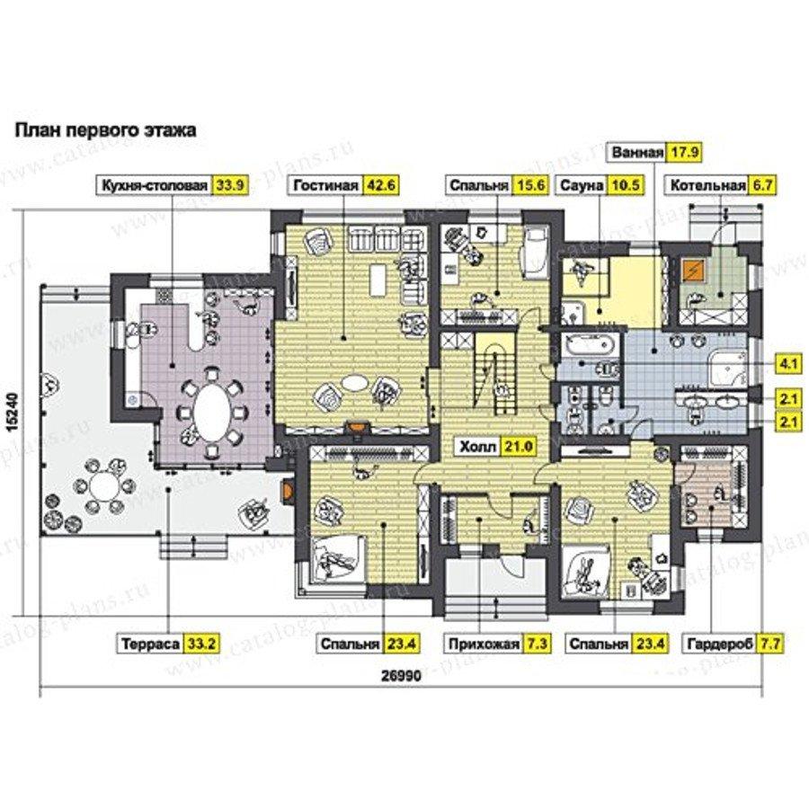 План 1-этажа проекта 60-65