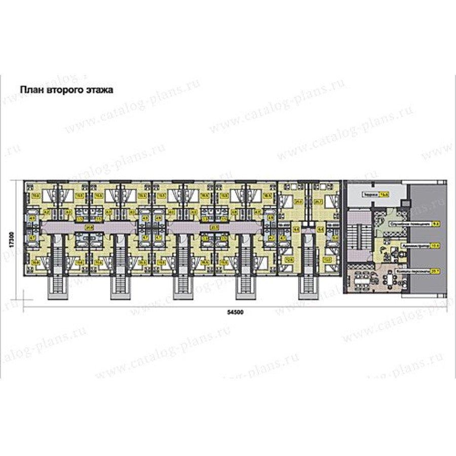 План 2-этажа проекта 60-68