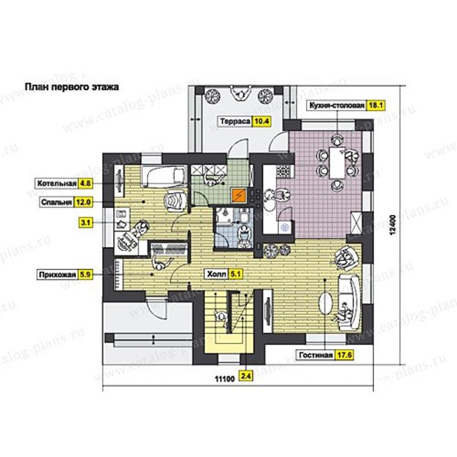План 1-этажа проекта 60-63