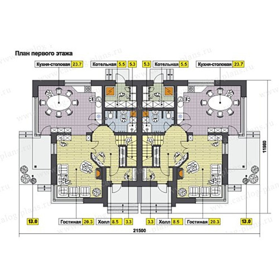 План 1-этажа проекта 60-64