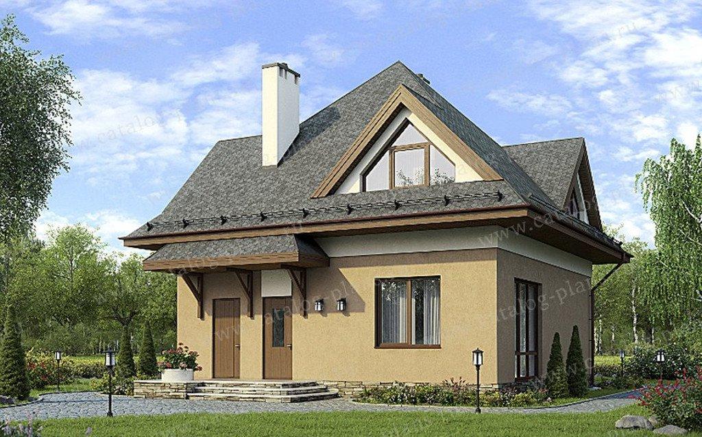 Проект жилой дом #60-32 материал - газобетон, стиль европейский