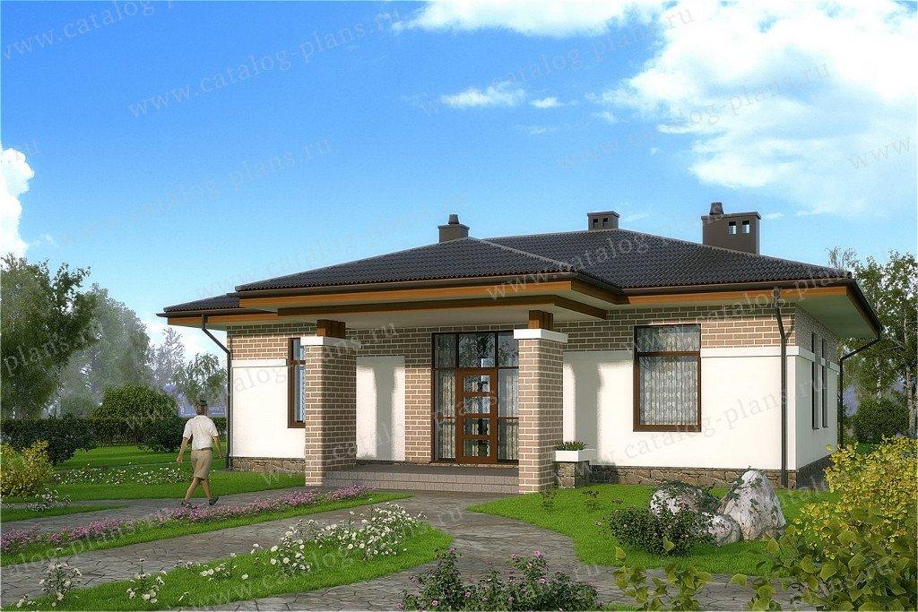 Проект жилой дом #60-46 материал - газобетон, стиль современный