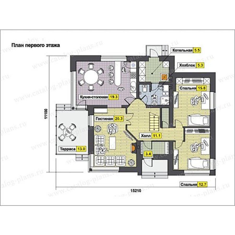 План 1-этажа проекта 60-61A