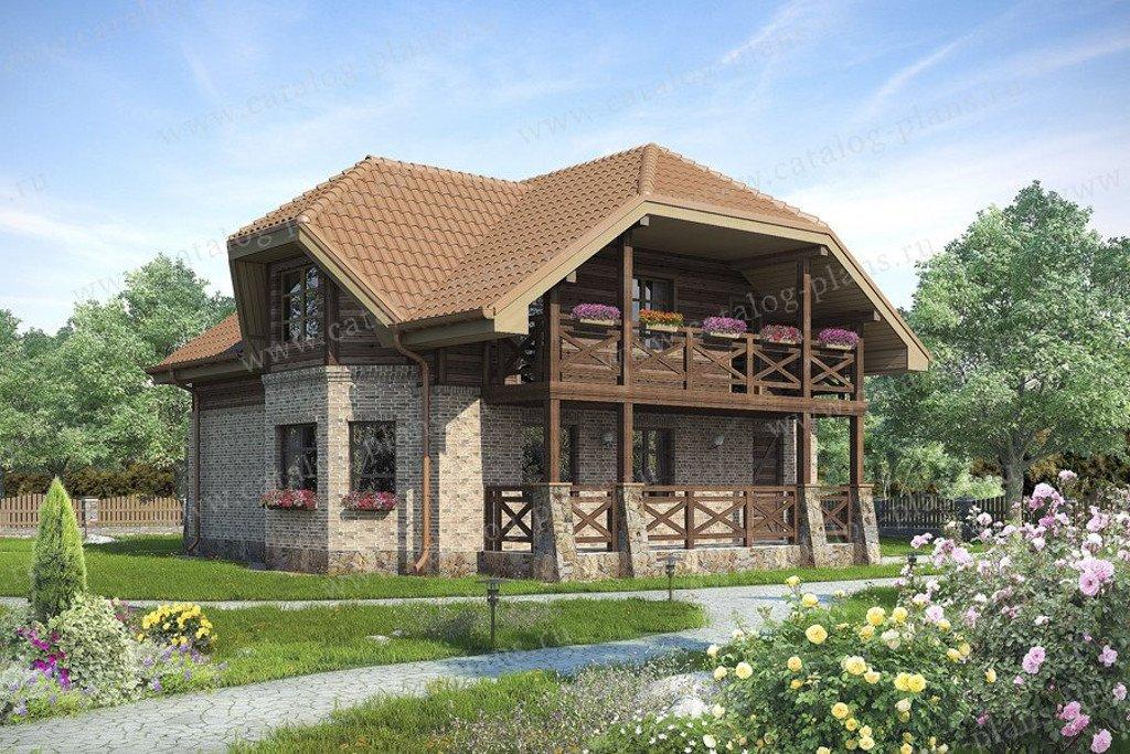 Проект жилой дом #60-60 материал - газобетон, стиль немецкий