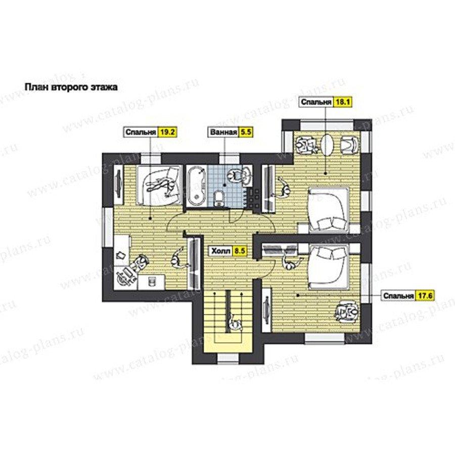 План 2-этажа проекта 60-63