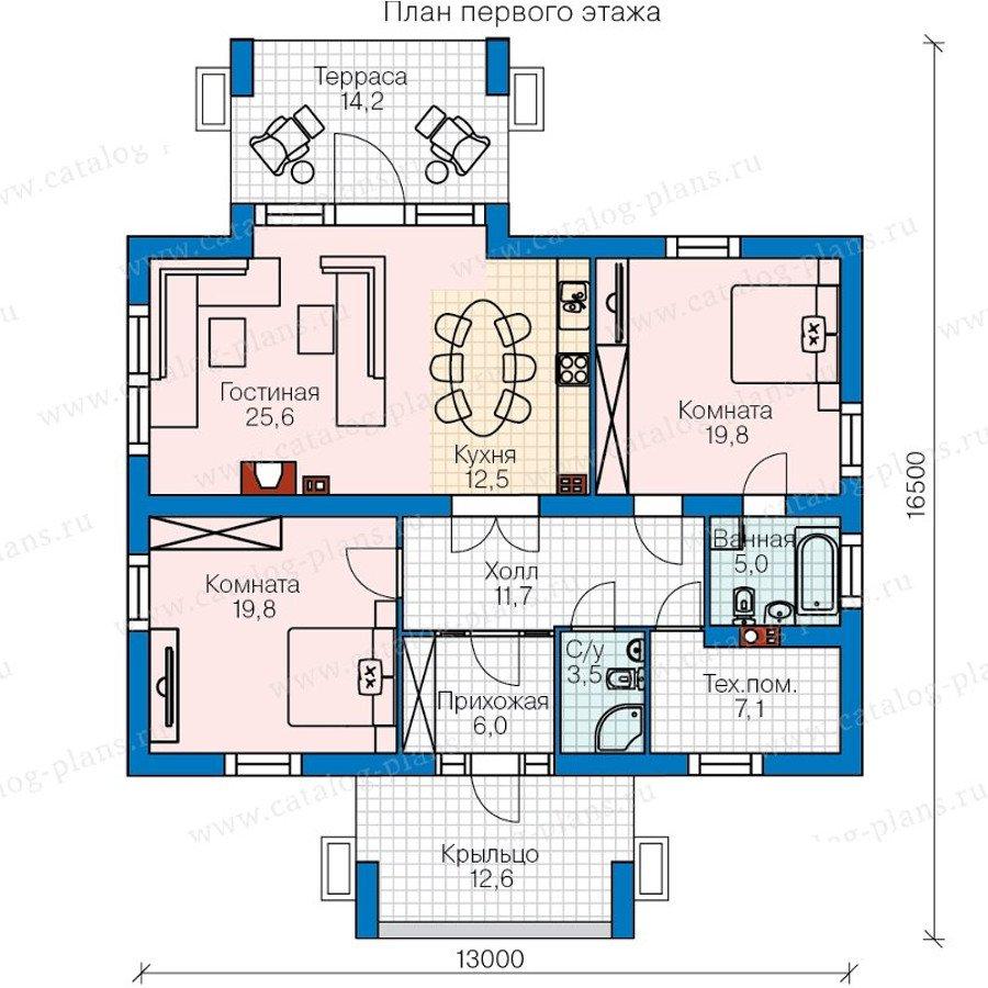 План 1-этажа проекта 60-46
