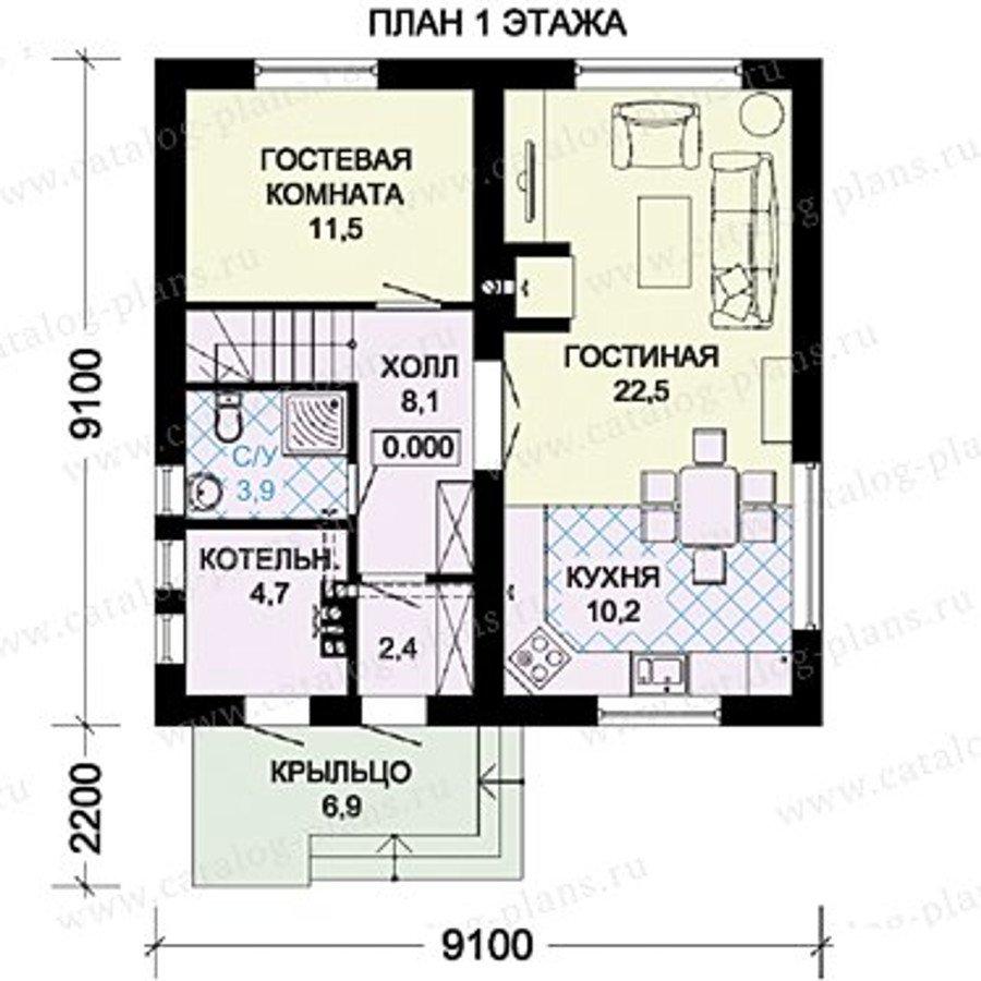 План 1-этажа проекта 60-32