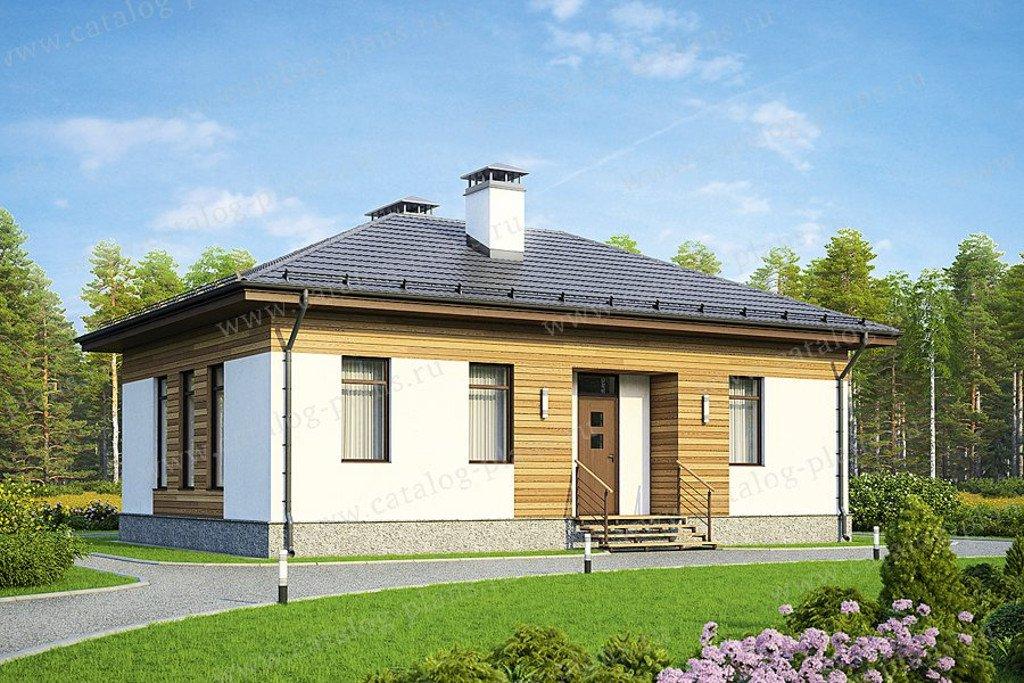 Проект жилой дом #60-54 материал - газобетон, стиль миниализм